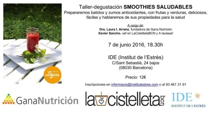 Taller smoothies IDE 7 juny 2016